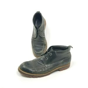 John Varvatos Men 11 Gray Leather Chukka Boot